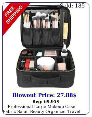 professional large makeup case fabric salon beauty organizer travel ba