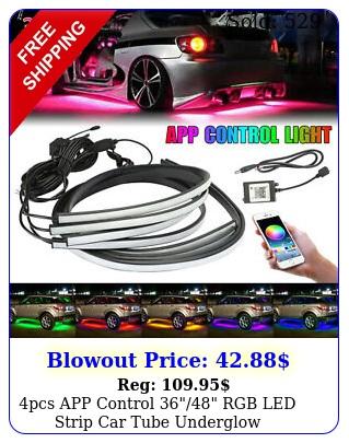 pcs app control rgb led strip car tube underglow underbody neon light