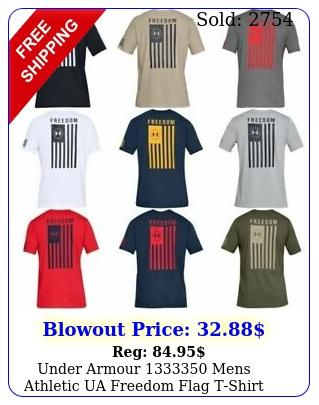 under armour mens athletic ua freedom flag tshirt short sleeve te
