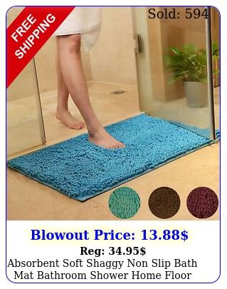 absorbent soft shaggy non slip bath mat bathroom shower home floor rugs carpe