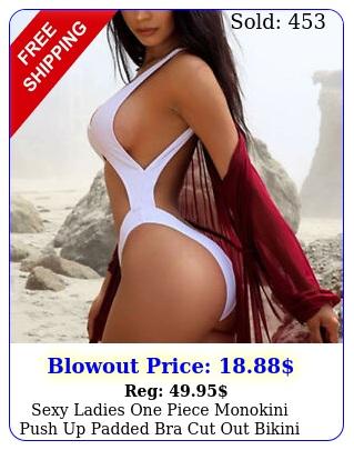 sexy ladies one piece monokini push up padded bra cut out bikini beach swimsui