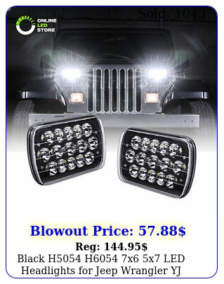 black h h x x led headlights jeep wrangler yj cherokee xj
