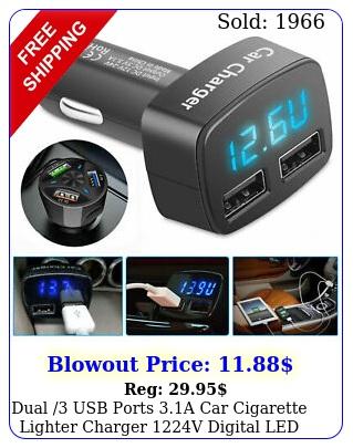 dual usb ports a car cigarette lighter charger v digital led voltmete