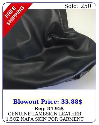 genuine lambskin leather oz napa skin garment bags large black s