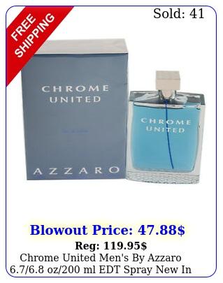 chrome united men's by azzaro oz ml edt spray i
