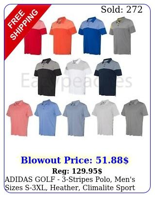 adidas golf stripes polo men's sizes sxl heather climalite sport shirt