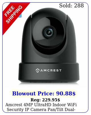 amcrest mp ultrahd indoor wifi security ip camera pantilt dualband ipm