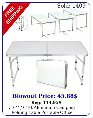 ' ' ' ft aluminum camping folding table portable office camping picnic bb