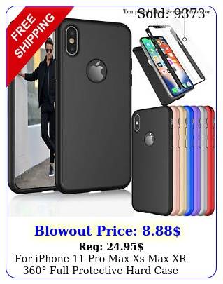 iphone pro max xs max xr full protective hard case screen protecto
