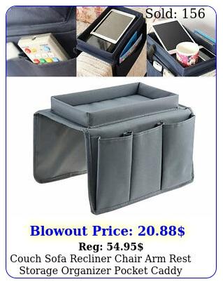 couch sofa recliner chair arm rest storage organizer pocket caddy tray holder u