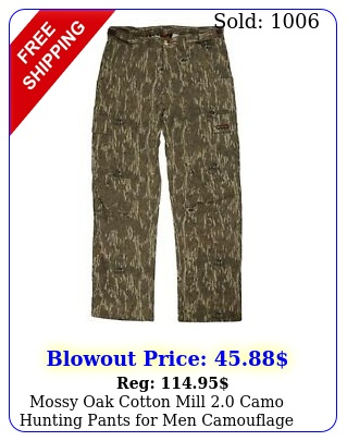 mossy oak cotton mill camo hunting pants men camouflage clothe