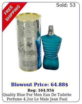 quality blue men eau de toilette perfume oz le male jean paul gaultie