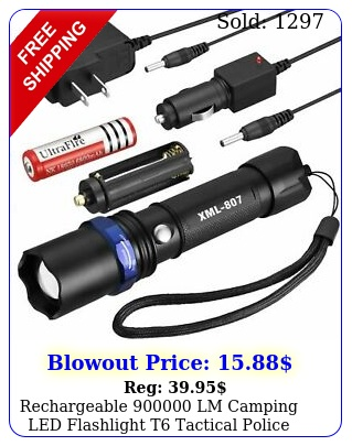 rechargeable lm camping led flashlight t tactical police torch batt cha