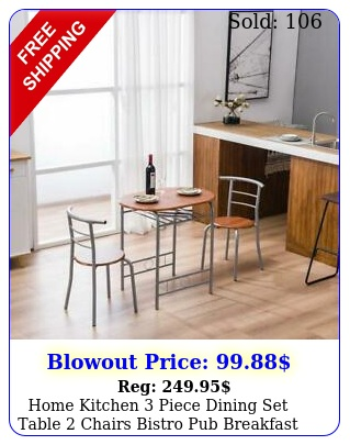 home kitchen piece dining set table chairs bistro pub breakfast furniture u