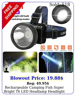 rechargeable camping fish super bright t led headlamp headlight head torch lam