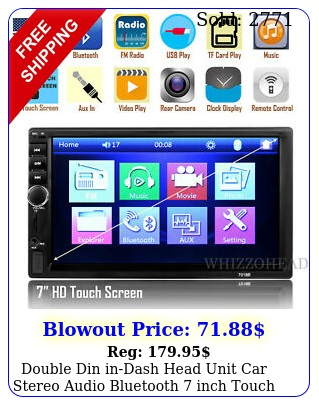 double din indash head unit car stereo audio bluetooth inch touch screen m