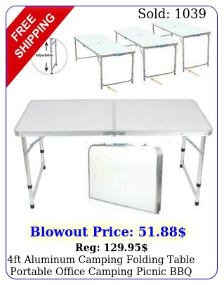 ft aluminum camping folding table portable office camping picnic bbq outdoo