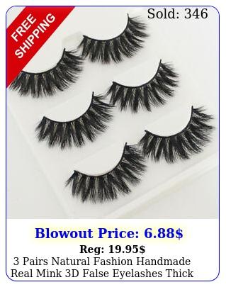 pairs natural fashion handmade real mink d false eyelashes thick long lashe