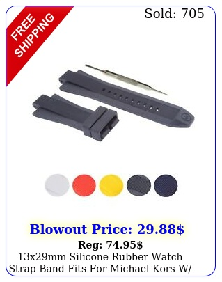 xmm silicone rubber watch strap band fits michael kors w too