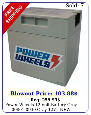 power wheels volt battery grey gray v ne