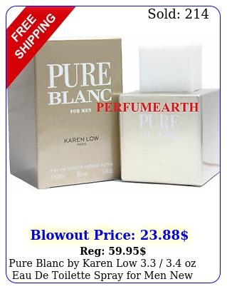 pure blanc by karen low  oz eau de toilette spray men i