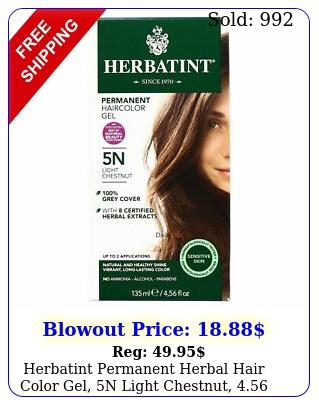 herbatint permanent herbal hair color gel n light chestnut ounc