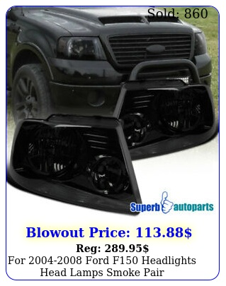 ford f headlights head lamps smoke pair replacemen