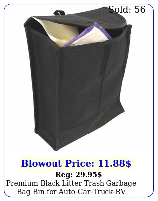 premium black litter trash garbage bag bin autocartruckr