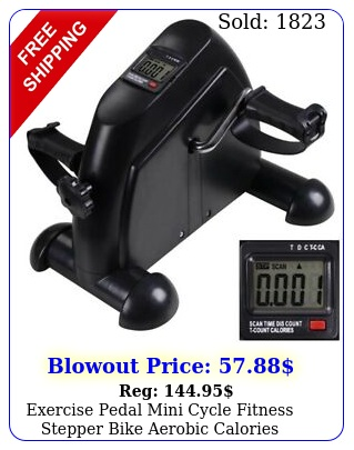 exercise pedal mini cycle fitness stepper bike aerobic calories display home gy