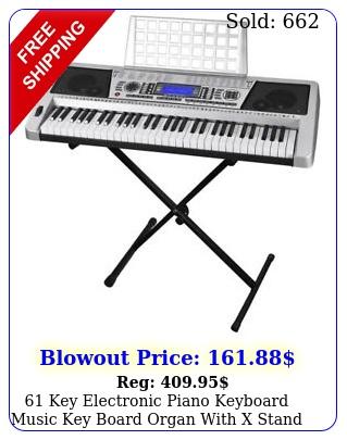 key electronic piano keyboard music key board organ with x stand portabl