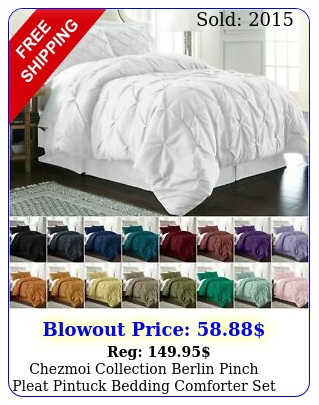 chezmoi collection berlin pinch pleat pintuck bedding comforter set all size
