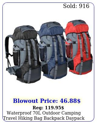 waterproof l outdoor camping travel hiking bag backpack daypack trek rucksac
