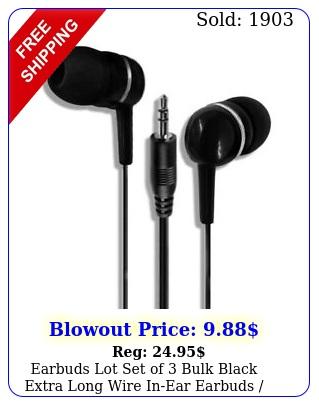 earbuds lot set of bulk black extra long wire inear earbuds earphone