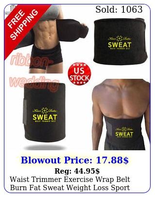 waist trimmer exercise wrap belt burn fat sweat weight loss sport body shaper z