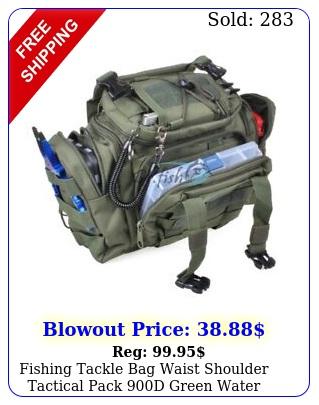 fishing tackle bag waist shoulder tactical pack d green water resistan