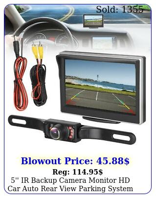 '' ir backup camera monitor hd car auto rear view parking system night visio