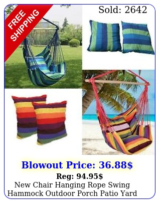 chair hanging rope swing hammock outdoor porch patio yard seat mul color