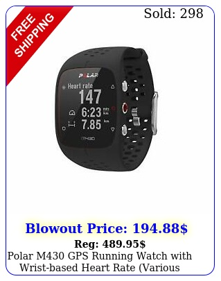 polar m gps running watch with wristbased heart rate various color