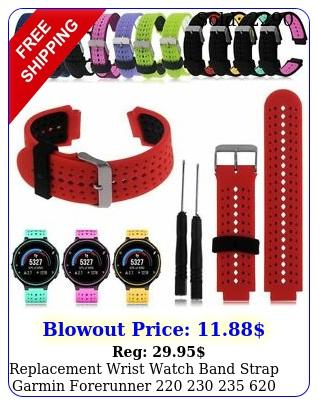 replacement wrist watch band strap garmin forerunner   x