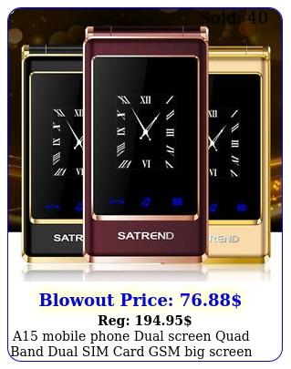 a mobile phone dual screen quad band dual sim card gsm big screen digital ke