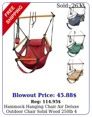 hammock hanging chair air deluxe outdoor chair solid wood lb color july t