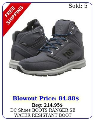 dc shoes boots ranger se water resistant boot graphite brand ne