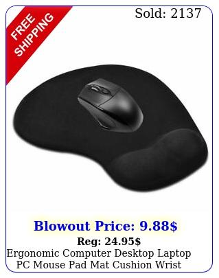 ergonomic computer desktop laptop pc mouse pad mat cushion wrist rest suppor