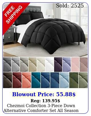 chezmoi collection piece down alternative comforter set all season bedding se