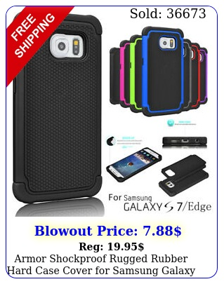 armor shockproof rugged rubber hard case cover samsung galaxy s s edg