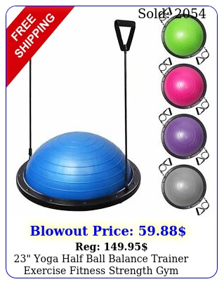 yoga half ball balance trainer exercise fitness strength gym workout w pum
