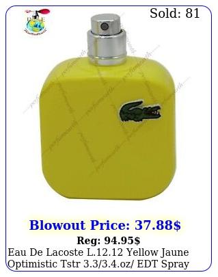 eau de lacoste l yellow jaune optimistic tstr oz edt spray ne
