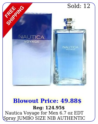 nautica voyage men oz edt spray jumbo size nib authenti