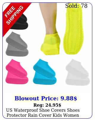 us waterproof shoe covers shoes protector rain cover kids women men size s m