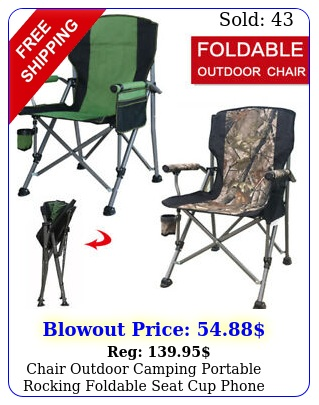 chair outdoor camping portable rocking foldable seat cup phone holder us